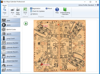 Screen shot of Madrid Codex tab.